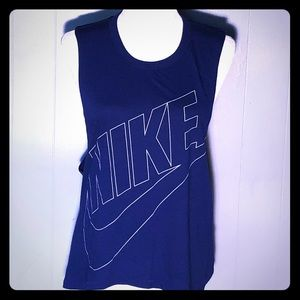 Nike blue workout top small